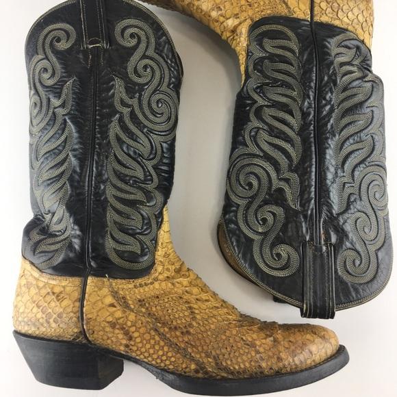 f03fd61b067 Tony Lama 8114 Mens Cowboy Snakeskin Exotic Boots